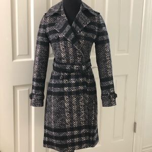 Burberry Prorsum Pristine Sz 2 Belted Trench Coat